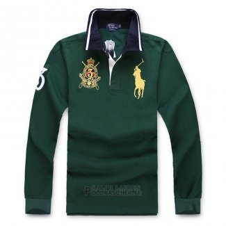 Ralph Lauren Homme Polo Manches Longues Pony Polo Vert