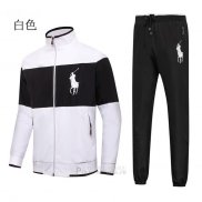 Ralph Lauren Homme Pony Polo Ensemble Survetement Blanc