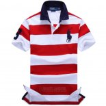 Ralph Lauren Homme Pony Polo Stripe Polo Rouge2