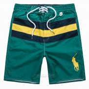 Ralph Lauren Homme Shorts Lacing Pony Polo Stripe Vert