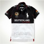 Ralph Lauren Homme Flag Polo Racing Deutschland Noir Blanc