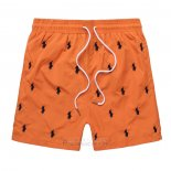 Ralph Lauren Homme Multi Pony Shorts Lacing Orange