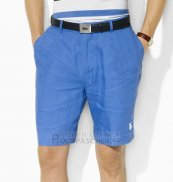 Ralph Lauren Homme Casual Short Pants Belt Pocket Pony Polo Bleu