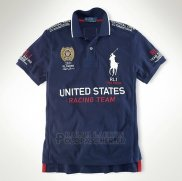 Ralph Lauren Homme City Polo Racing United States Fonce Bleu