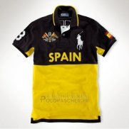 Ralph Lauren Homme Flag Polo Spain Noir Jaune