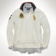 Ralph Lauren Homme Polo Manches Longues Crest Pony Polo Blanc