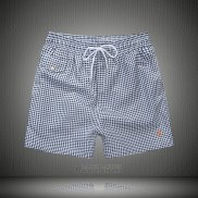 Ralph Lauren Homme Shorts Lacing Mesh Polo Stripe Gris Fonce