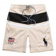 Ralph Lauren Homme Shorts Lacing Pony Polo Stripe Usa Apricot