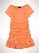 Ralph Lauren Enfant Corte Robes Orange