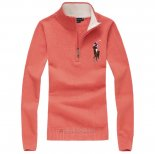 Ralph Lauren Femme Pull Pony Polo Watermelon Rouge Blanc