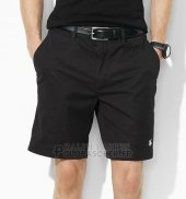 Ralph Lauren Homme Casual Short Pants Belt Pocket Pony Polo Noir