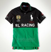 Ralph Lauren Homme City Polo Rl-racing Noir Vert