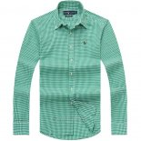 Ralph Lauren Homme Colorful Mesh Polo Grid Vert Blanc