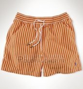 Ralph Lauren Homme Shorts Lacing Mesh Polo Fonce Orange