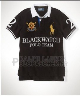 Ralph Lauren Homme Black Watch Polo Noir