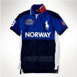 Ralph Lauren Homme Flag Polo Norway Bleu Blanc