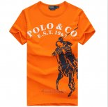Ralph Lauren Homme T-shirt Est 1967 Pony Polo Orange