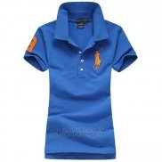 Ralph Lauren Femme Pony Polo Bleu Orange