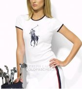 Ralph Lauren Femme Slim Fit Pony Polo T-shirt Blanc1