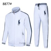 Ralph Lauren Homme Polo 8877 Ensemble Survetement Blanc