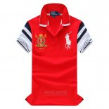 Ralph Lauren Homme Pony Polo Athletic Division Rouge