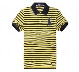 Ralph Lauren Homme Pony Polo Stripe Polo Jaune2