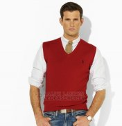 Ralph Lauren Homme Chaleco Pull Fonce Rouge