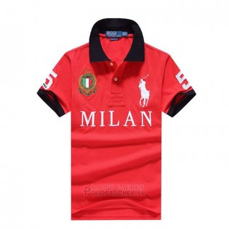 Ralph Lauren Homme City Polo 5 Milan Rouge
