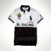 Ralph Lauren Homme City Polo Rl-racing Blanc Noir