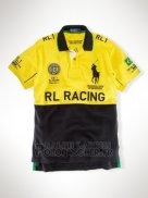 Ralph Lauren Homme City Polo Rl-racing Jaune Noir