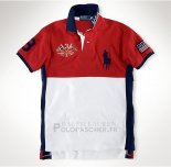 Ralph Lauren Homme Flag Polo United States Rouge Blanc