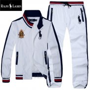 Ralph Lauren Homme Pony Polo Ensemble Survetement Blanc3