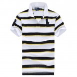 Ralph Lauren Homme Pony Polo Stripe Polo Blanc