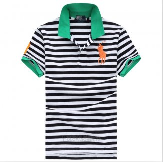 Ralph Lauren Homme Pony Polo Stripe Polo Noir2