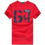 Ralph Lauren Homme T-shirt Number 67 Rouge
