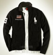 Ralph Lauren Homme Vestes United States Pony Polo Full Zip Noir
