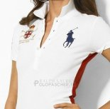 Ralph Lauren Femme Classic Fit Pony Polo Mercer Polo Blanc Rouge