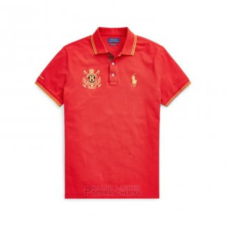 Ralph Lauren Homme 8082 Mesh Polo Manche Courte Orange