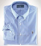 Ralph Lauren Homme Colorful Mesh Polo Grid Bleu Blanc