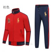 Ralph Lauren Homme Ensemble Survetement Rouge