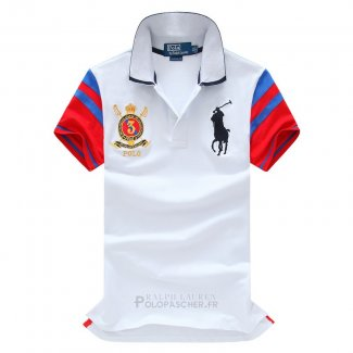 Ralph Lauren Homme Pony Polo Athletic Division Blanc