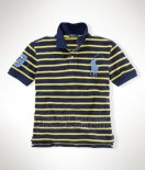 Ralph Lauren Homme Pony Polo Stripe Polo Jaune