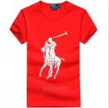 Ralph Lauren Homme T-shirt Pony Polo Rouge