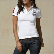 Ralph Lauren Femme Custom Fit Multi Crested Match Polo Blanc