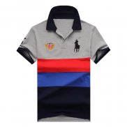 Ralph Lauren Homme 1802 Stripe Polo Flag USA Gris