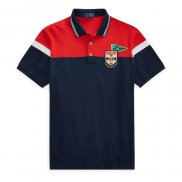Ralph Lauren Homme 8087 Flag Polo United States Rouge Noir