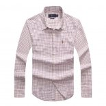 Ralph Lauren Homme Colorful Mesh Polo Grid Rouge