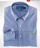 Ralph Lauren Homme Largo Chemise Colorful Mesh Polo Grid Bleu