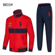 Ralph Lauren Homme Polo 8833 Ensemble Survetement Rouge