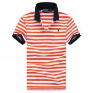 Ralph Lauren Homme Stripe Polo Orange